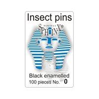 Insektsnålar svarta Nr 0