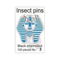 Insektsnålar svarta Nr 3