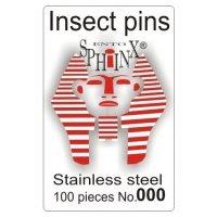 Insektsnålar blanka Nr 000