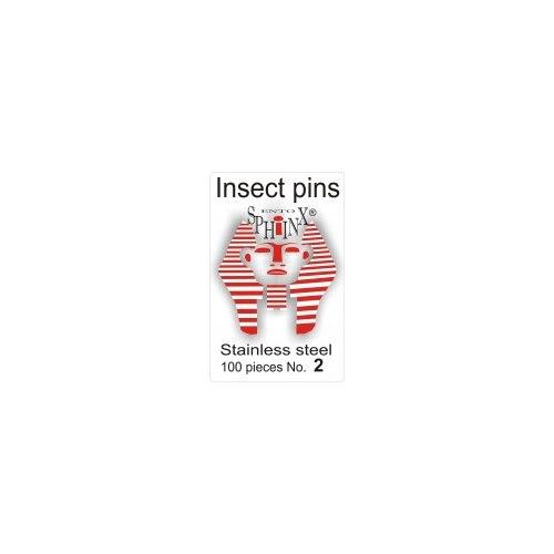 Insektsnålar blanka Nr 2