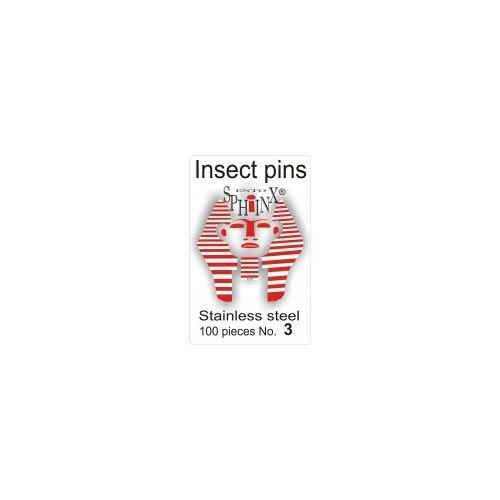 Insektsnålar blanka Nr 3