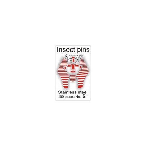 Insektsnålar blanka Nr 6