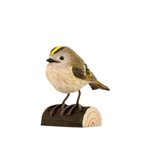 Kungsfågel snidat trä