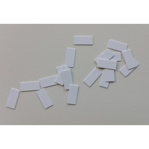Monteringslapp vit standard 17x6