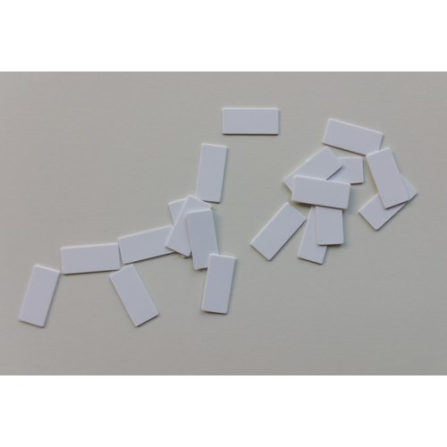 Standard White Mounting Labels 25x9
