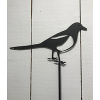 Wrought Iron Magpie on a stick