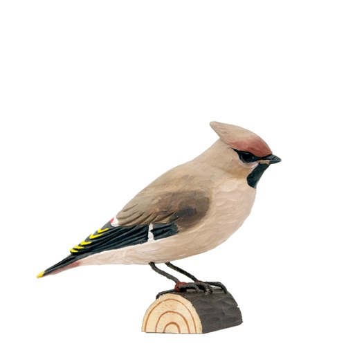Waxwing Wood Carving