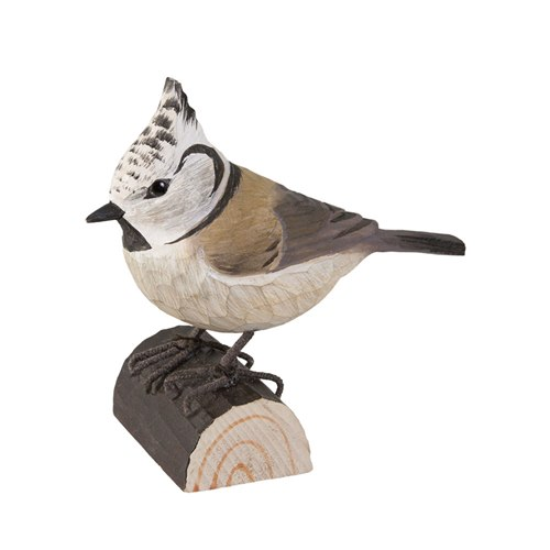 Crested tit Wood carving