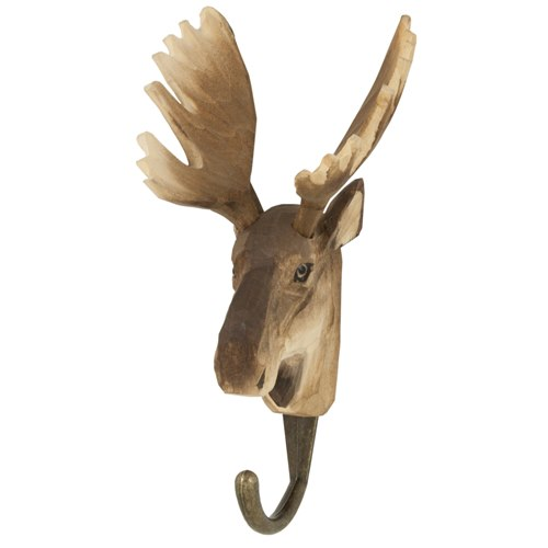Hook carved Moose