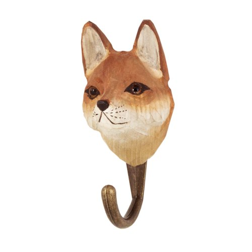 Hook carved Fox