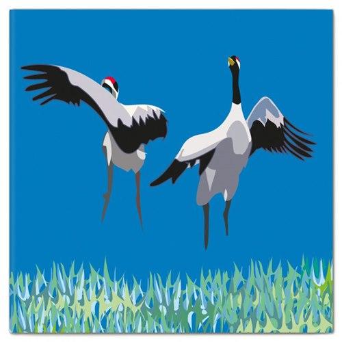 Double Card Cranes