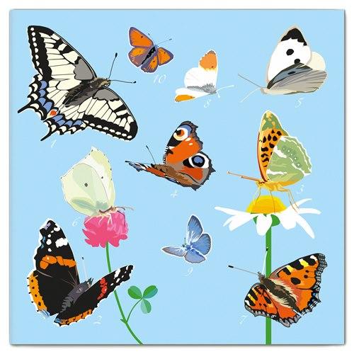 Dubbelt Kort Fjärilar