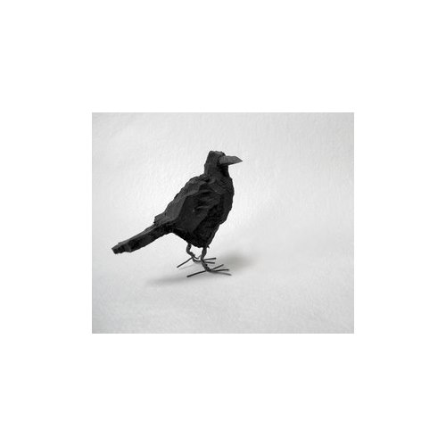 Handcarved wooden Crow, large