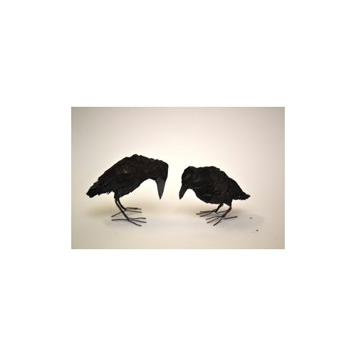 Handcarved wooden Crow, small