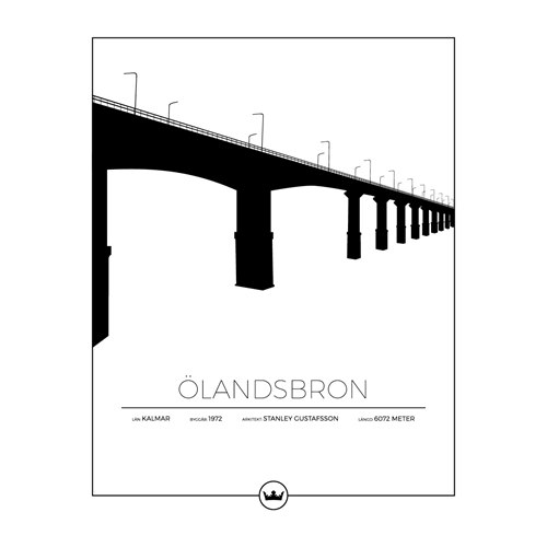 Poster ÖLAND BRIDGE