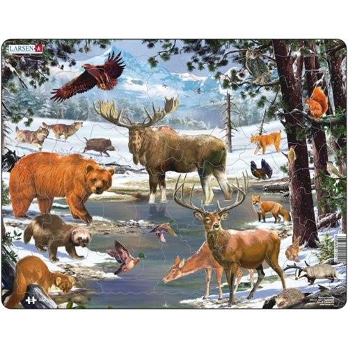 Pussel Nordliga djur 1, Maxi, 54 bitar