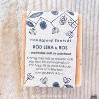 Tvål, RödLera&Ros, 110g Eko