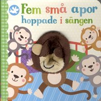 Fem små apor hoppade i sängen