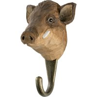 Hook carved Wild boar