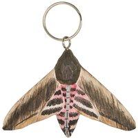 Nyckelring snidad Nattfjäril