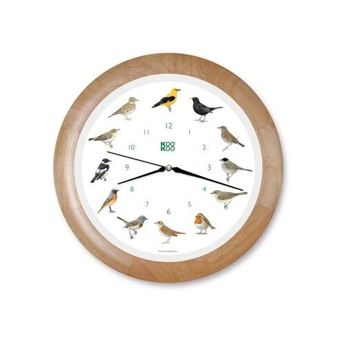 KooKoo väggklocka sångfågel träram