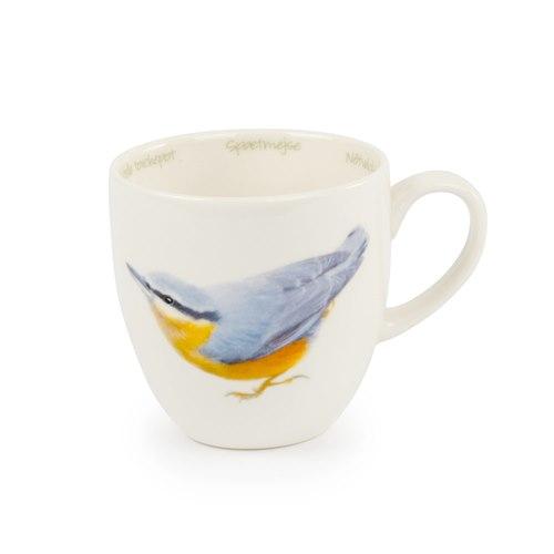 Mug Porcelain Eurasian nuthatch