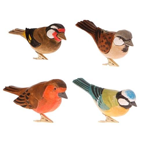 Träfågel med clips