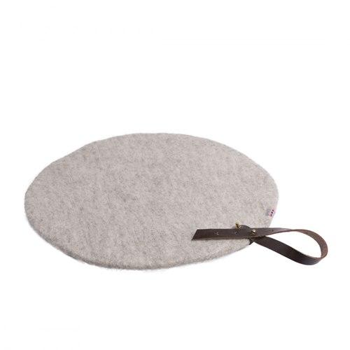 Sittunderlag rund grå 40 cm