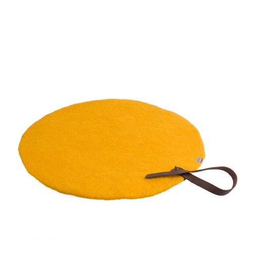 Sittunderlag rund gul 40 cm