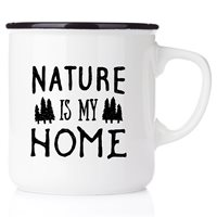 Emaljmugg Nature is my home, svart