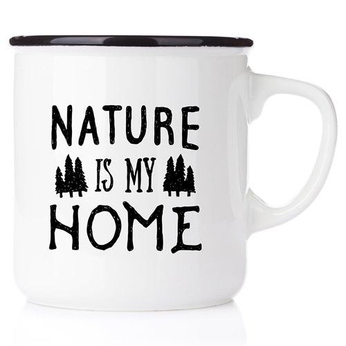 Emaljmugg Nature is my home, svart
