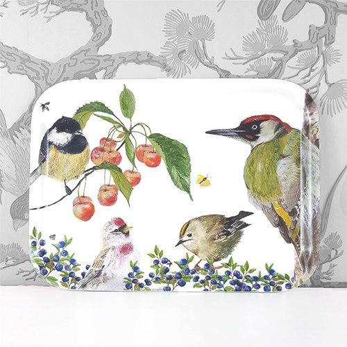 Fågelliv Frukostbricka 27x20 cm