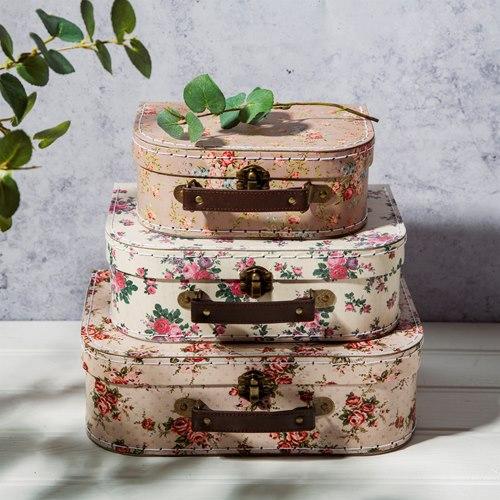 Väska, Vintage rose, 3-set