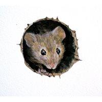 Stickers Mus i hål