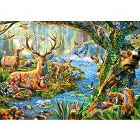 Pussel Djur i skogen, 500 bitar