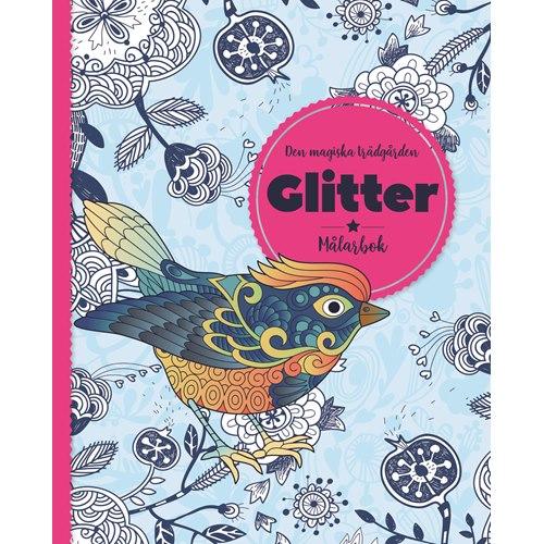 Den magiska trädgården : Glitter målarbok