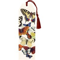 Bookmark colourful butterflies