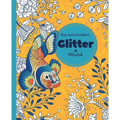 Djupa havets hemligheter : Glitter målarbok