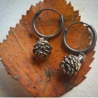 Kottar örhängen, brons