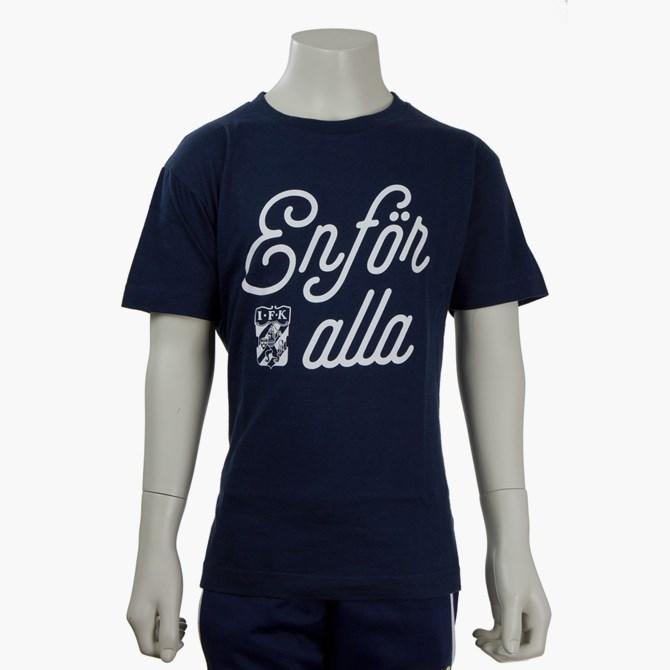 T-Shirt En För Alla Marin Jr