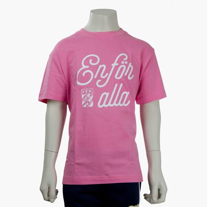 T-Shirt En För Alla Rosa Jr