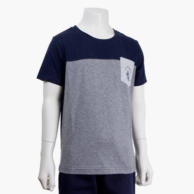 T-Shirt Ficka Marin/Grå Jr