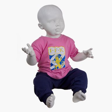T-Shirt Emblem Baby Rosa