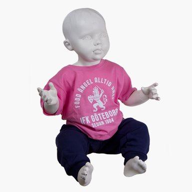 T-Shirt Född Ängel Baby Rosa
