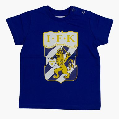 Baby T-Shirt Klubbmärke Färg Blå