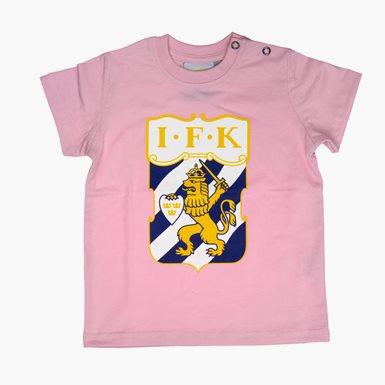 Baby T-Shirt Klubbmärke Färg Rosa